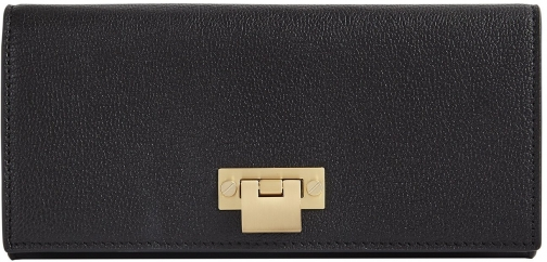 Reiss Parker - Leather Lock Closure Black, Womens Wallet
