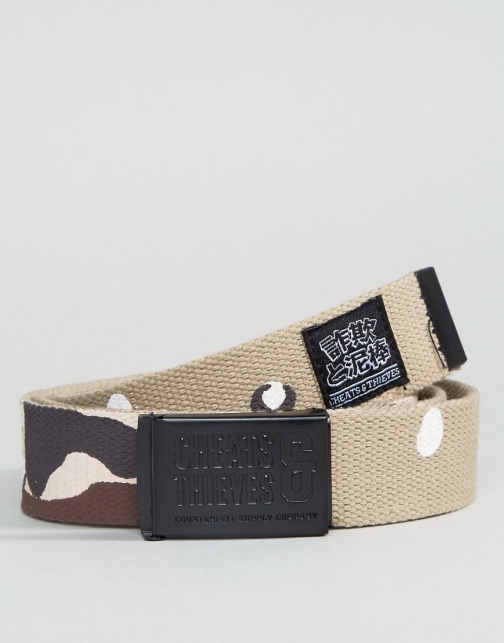Cheats & Thieves Cheats And Thieves Clip Night Camo Print Belt