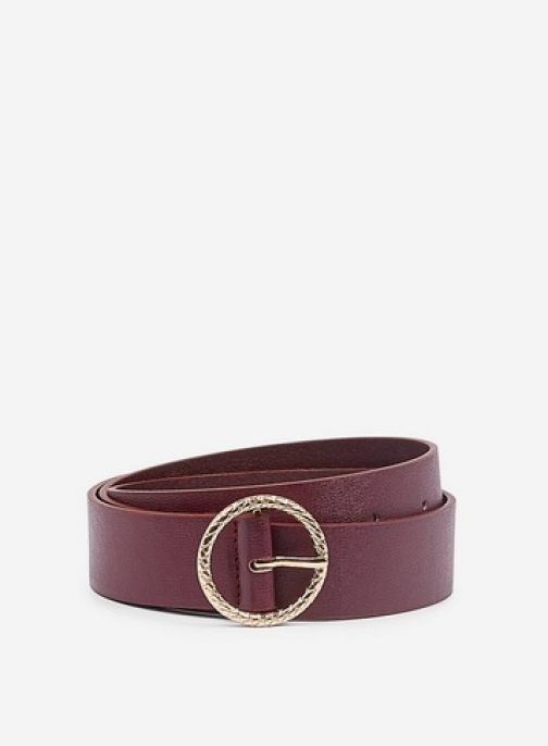 Dorothy Perkins Red Engraved Circle Buckle Belt
