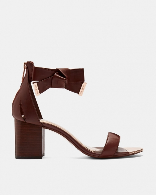 Ted Baker Leather Block Heeled Sandals