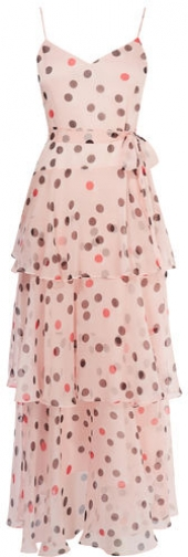 Karen Millen Polkadot Tiered Maxi Dress