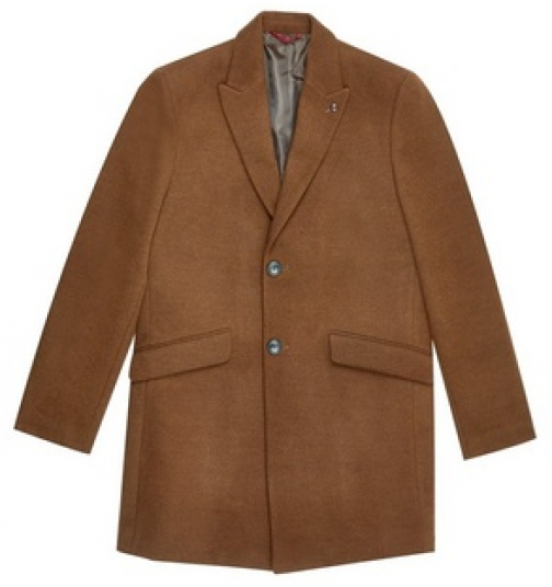 Dorothy Perkins Womens **Burton Brown Faux Wool - Chocolate, Chocolate Coat