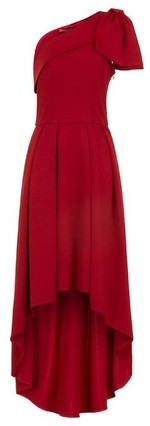Dorothy Perkins Womens *Chi Chi London Red Bow Detail Dip Hem - Red, Red Maxi Dress
