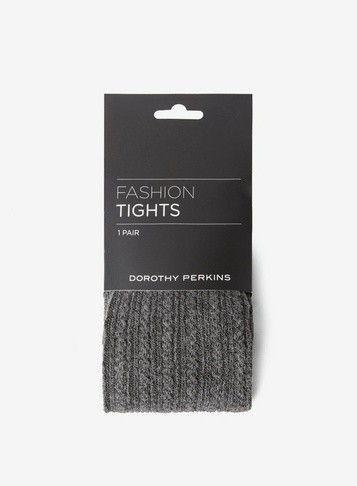 Dorothy Perkins Womens Grey 1 Pack Cable Knit - Grey, Grey Tight