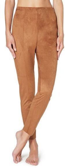 Calzedonia Suede Effect Woman Brown Size L Legging