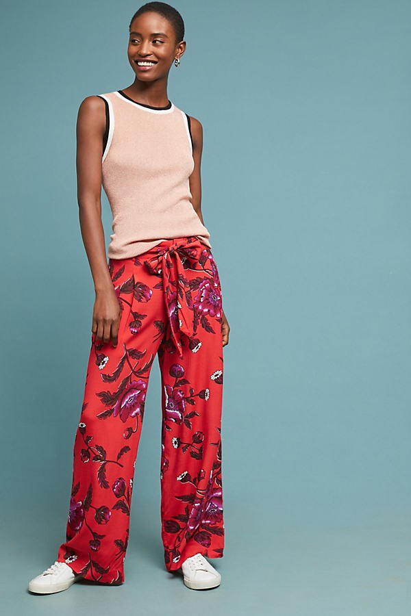Anthropologie Margo Wide-Leg Trousers - Assorted, Size Uk Wide Leg Trouser
