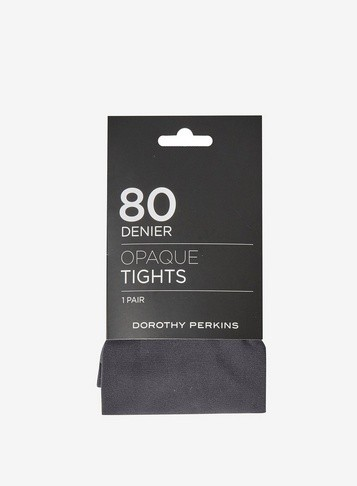 Dorothy Perkins Womens Grey 1 Pack 80 Denier - Grey, Grey Tight