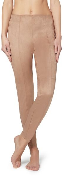 Calzedonia Suede Effect Woman Nude Size L Legging