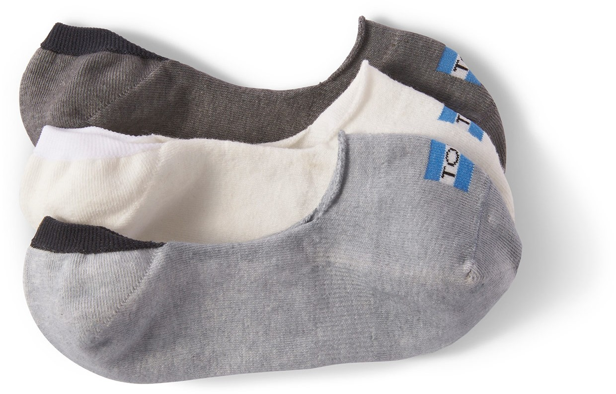 Toms 3 Pack Solid Greys Womens No Show  Sock