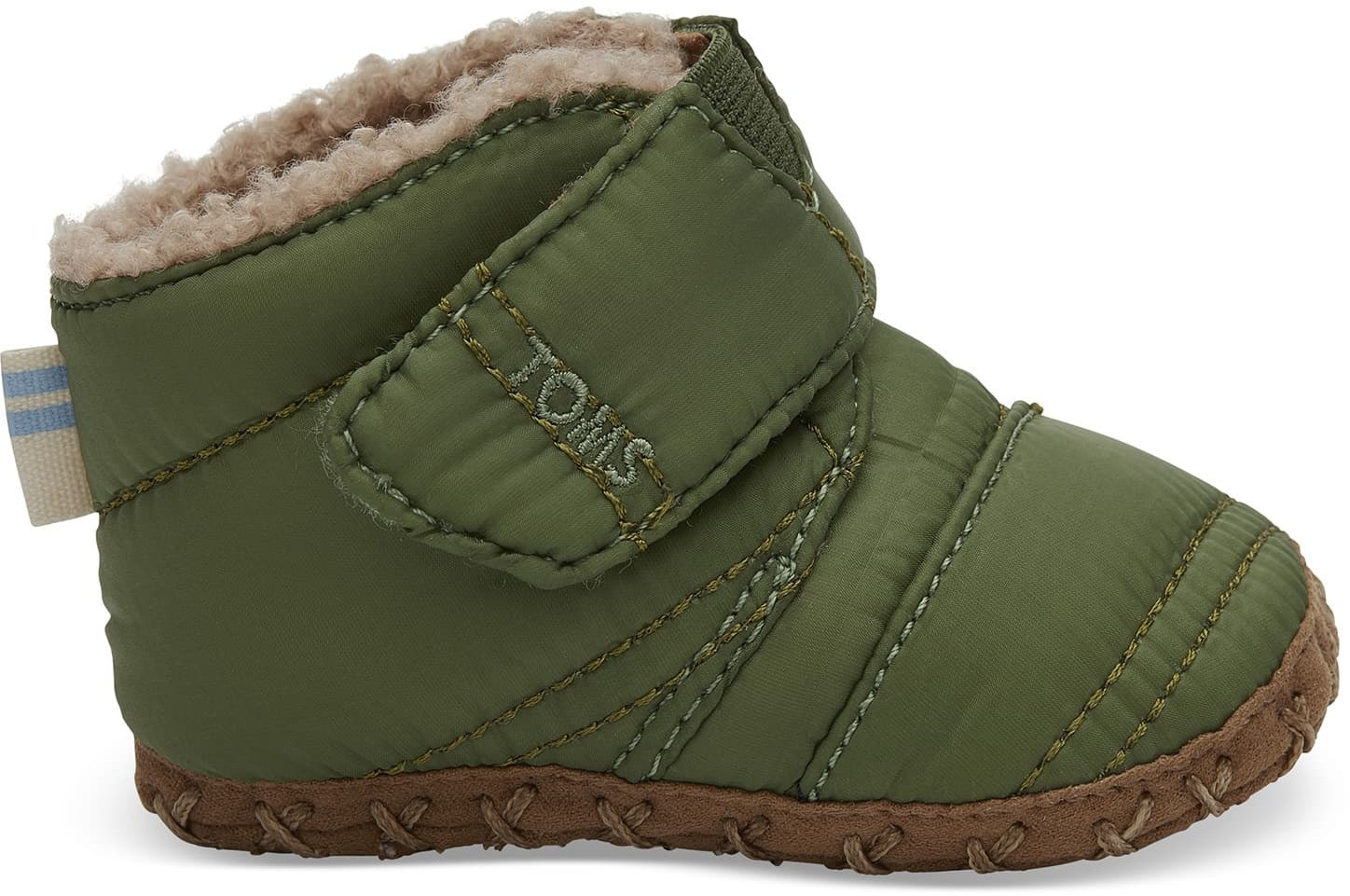 Toms Light Pine Quilted Tiny TOMS Cuna Crib - Size UK3 / US4 Shoes