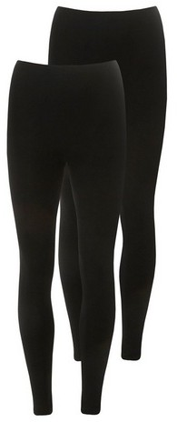 Dorothy Perkins Womens 2 Pack Black Viscose - Black, Black Legging