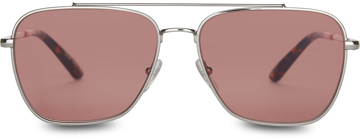 Toms Irwin 201 Shiny Silver Cherry Lens With Cherry Lens Sunglasses