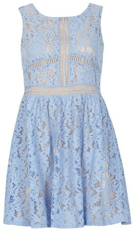Dorothy Perkins Womens *Voulez Vous Pale Blue Lace Ladder - Blue, Blue Dress