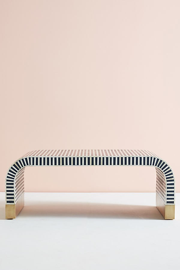 Anthropologie Waterfall Inlay Coffee Table - Blue Accessorie