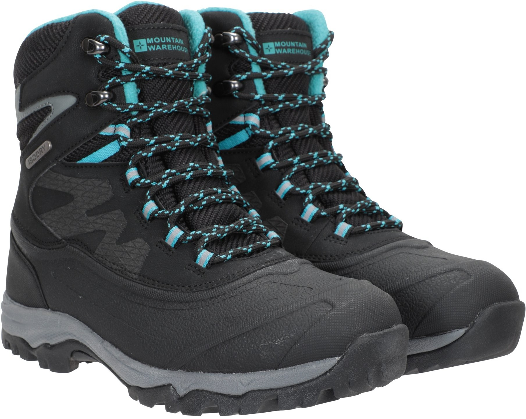 Mountain Warehouse Piste Basher Ultra Grip Womens Waterproof Snowboots - Black Snow Boot