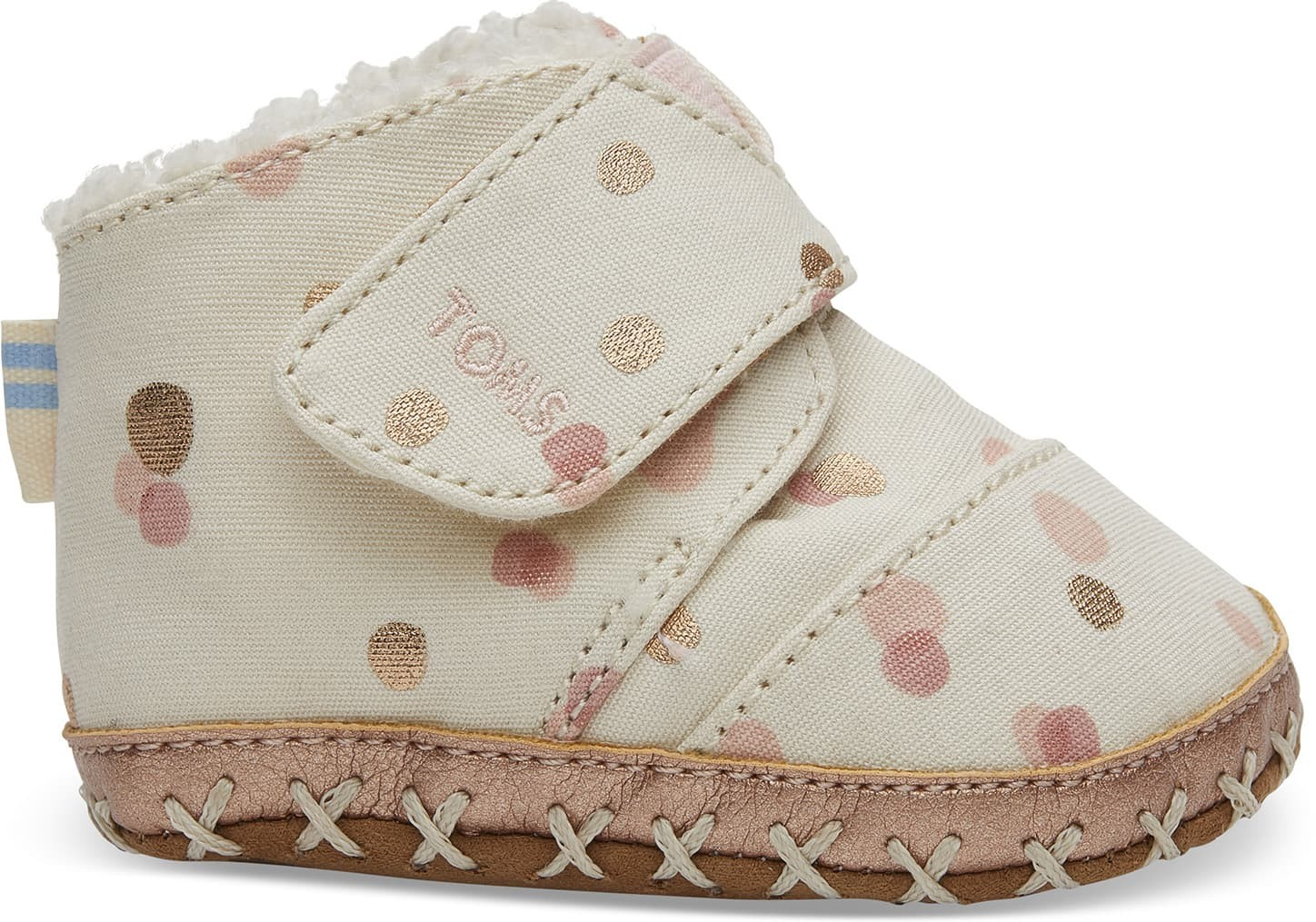 Toms Pale Blush Party Dots Tiny TOMS Cuna Crib - Size UK1.5 / US2 Shoes
