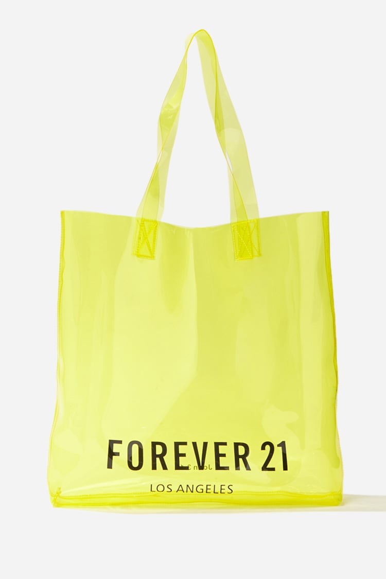 Forever21 Forever 21 Forever 21 Graphic Transparent Bag , Yellow Tote