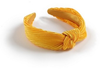Dorothy Perkins Yellow Silk Crinkle Headband Headwear