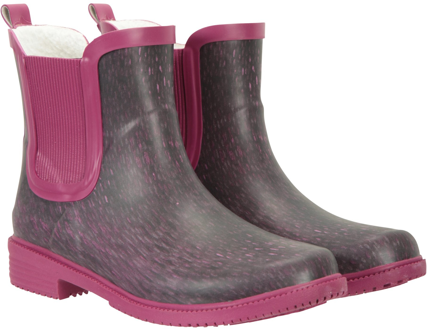 Mountain Warehouse Womens Printed Winter Rubber Ankle - Purple Welly