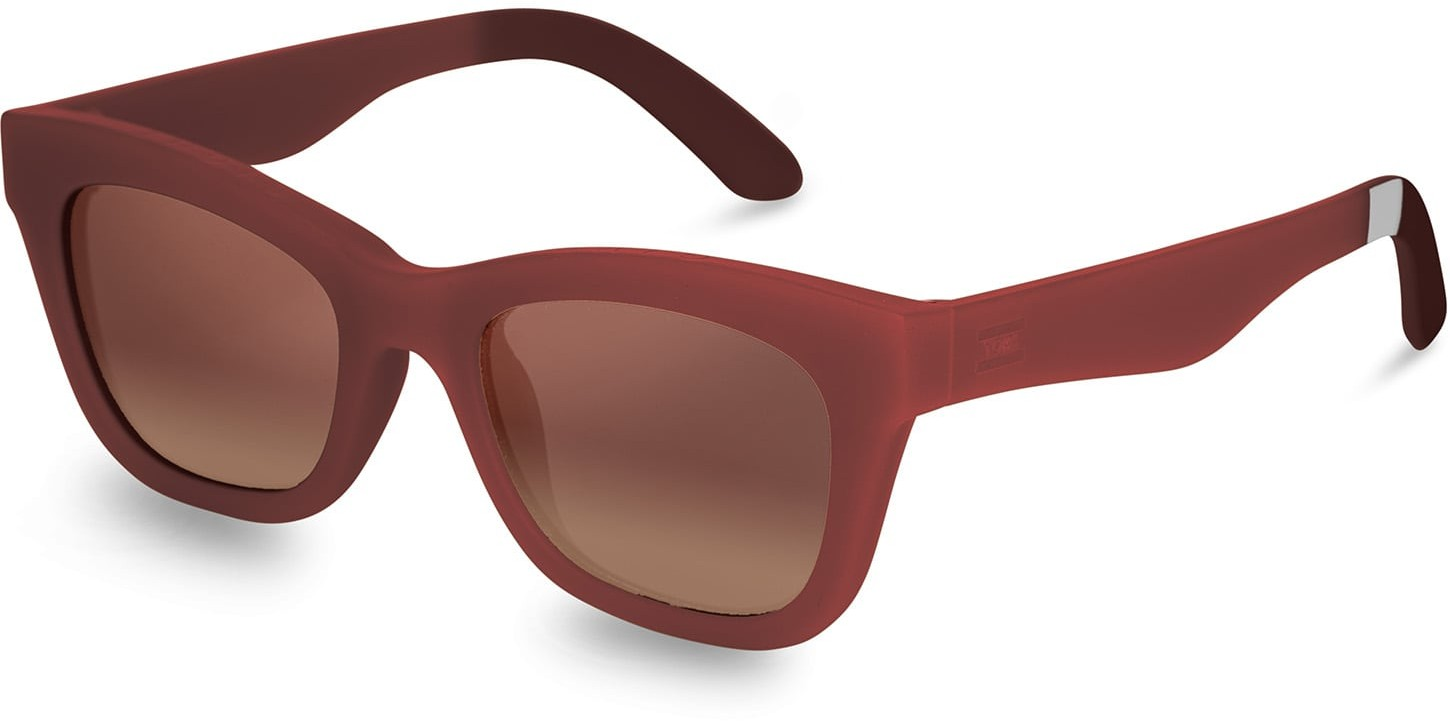 Toms Traveler By TOMS Paloma Matte Spice Bronze Double Gradient Mirror Lens With Brown Gradient Lens Sunglasses