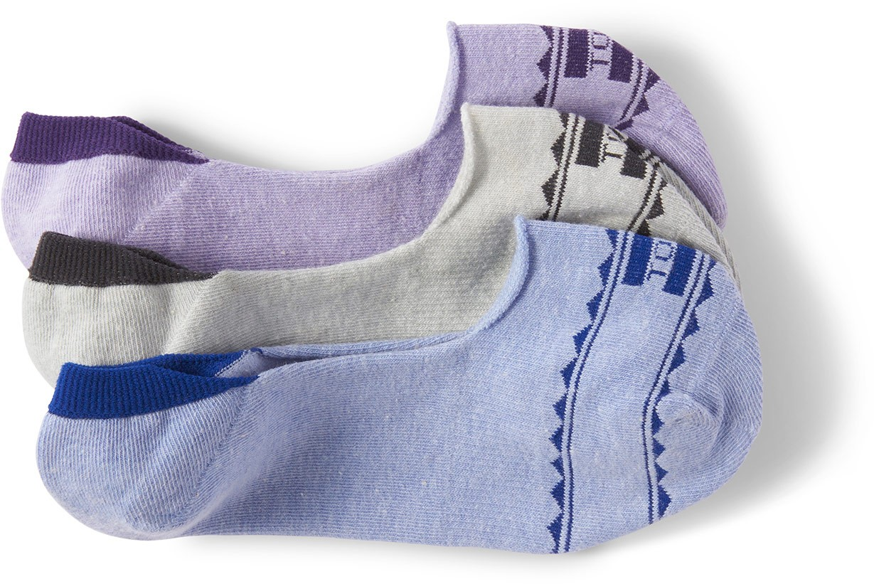 Toms 3 Pack Patterned Woven Womens No Show  Sock