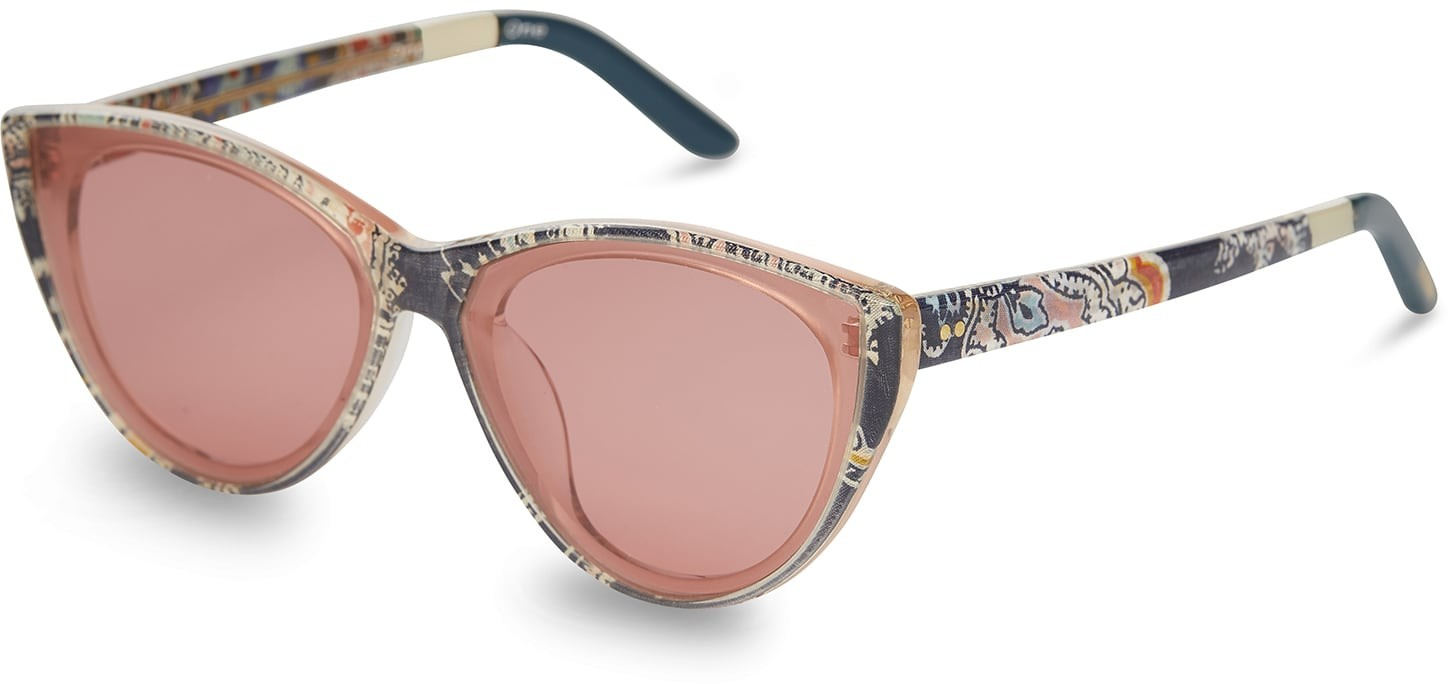 Toms Josie Liberty Louis Liberty® Cherry Lens With Amber Mirror Lens Sunglasses