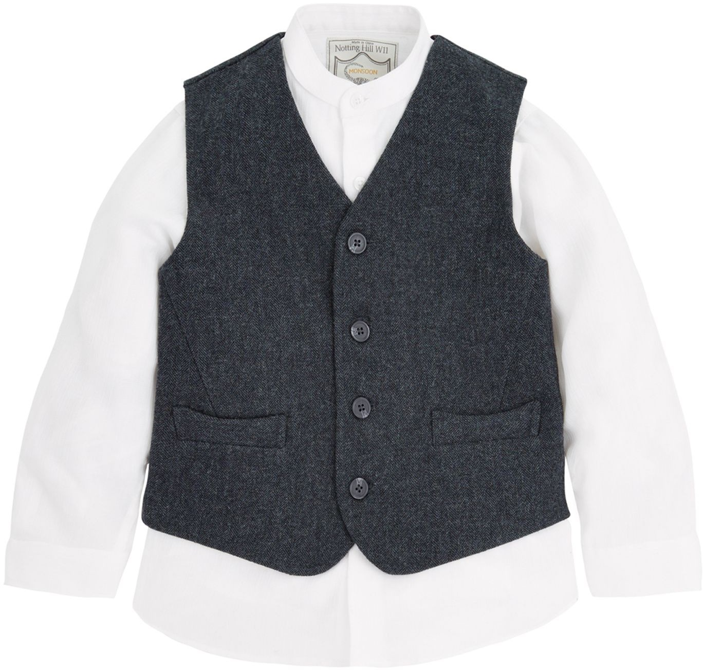 Monsoon Boys Hector Waistcoat And Set Shirt