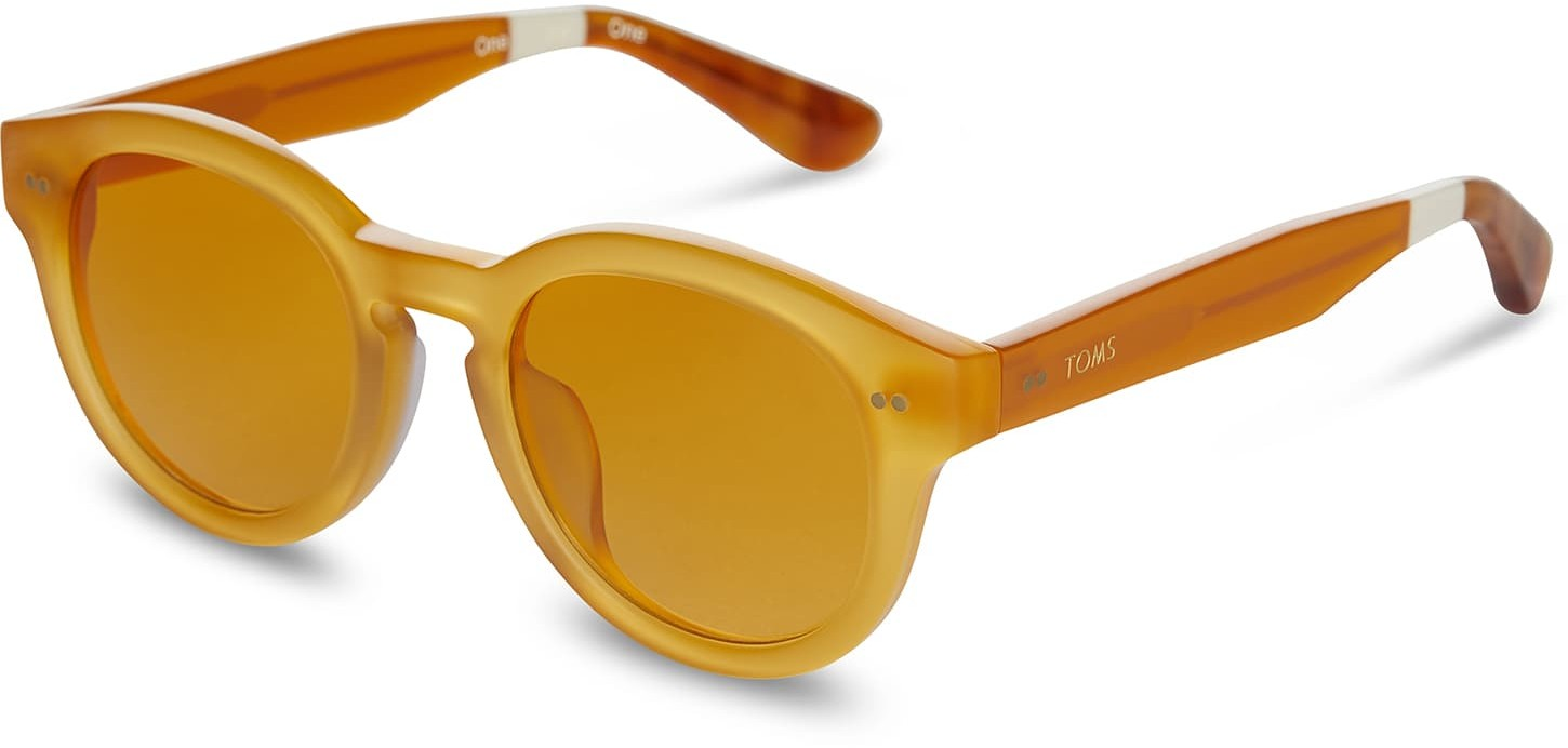 Toms Bellevue Milky Pineapple With Yellow Brown Gradient Lens Sunglasses