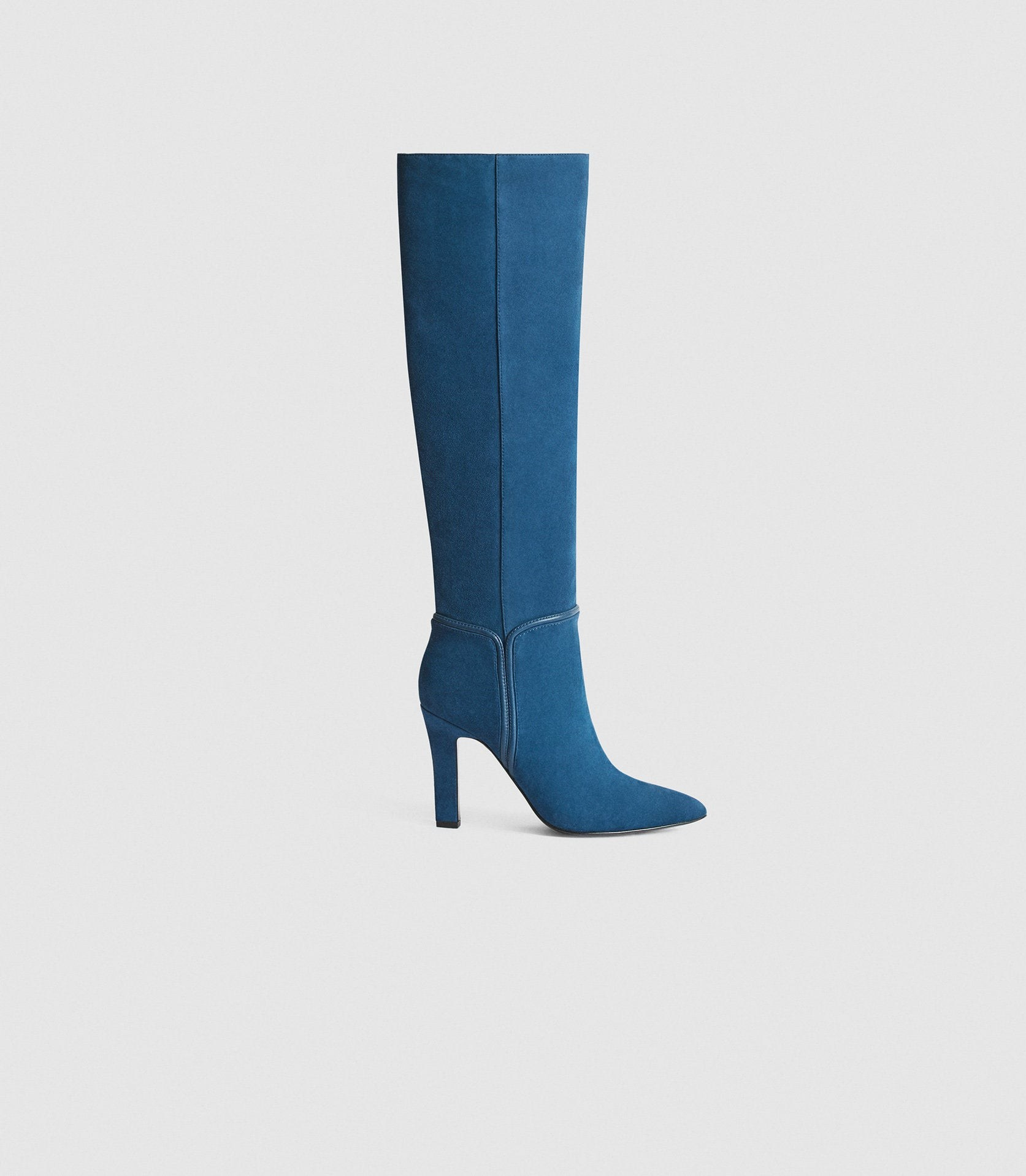 Reiss Eline - Suede Blue, Womens, Size 3 Knee High Boots