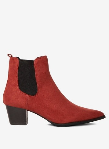 Dorothy Perkins Womens Rust 'Mayfair' - Red, Red Ankle Boot