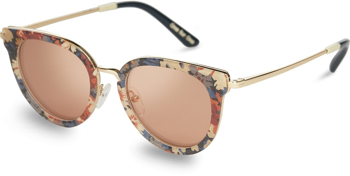 Toms Rey Thorpe Liberty® Peach Mirror Lens With Pink Mirror Lens Sunglasses