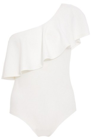 Dorothy Perkins Womens *Quiz Cream Crepe Frill - Cream, Cream Bodysuit