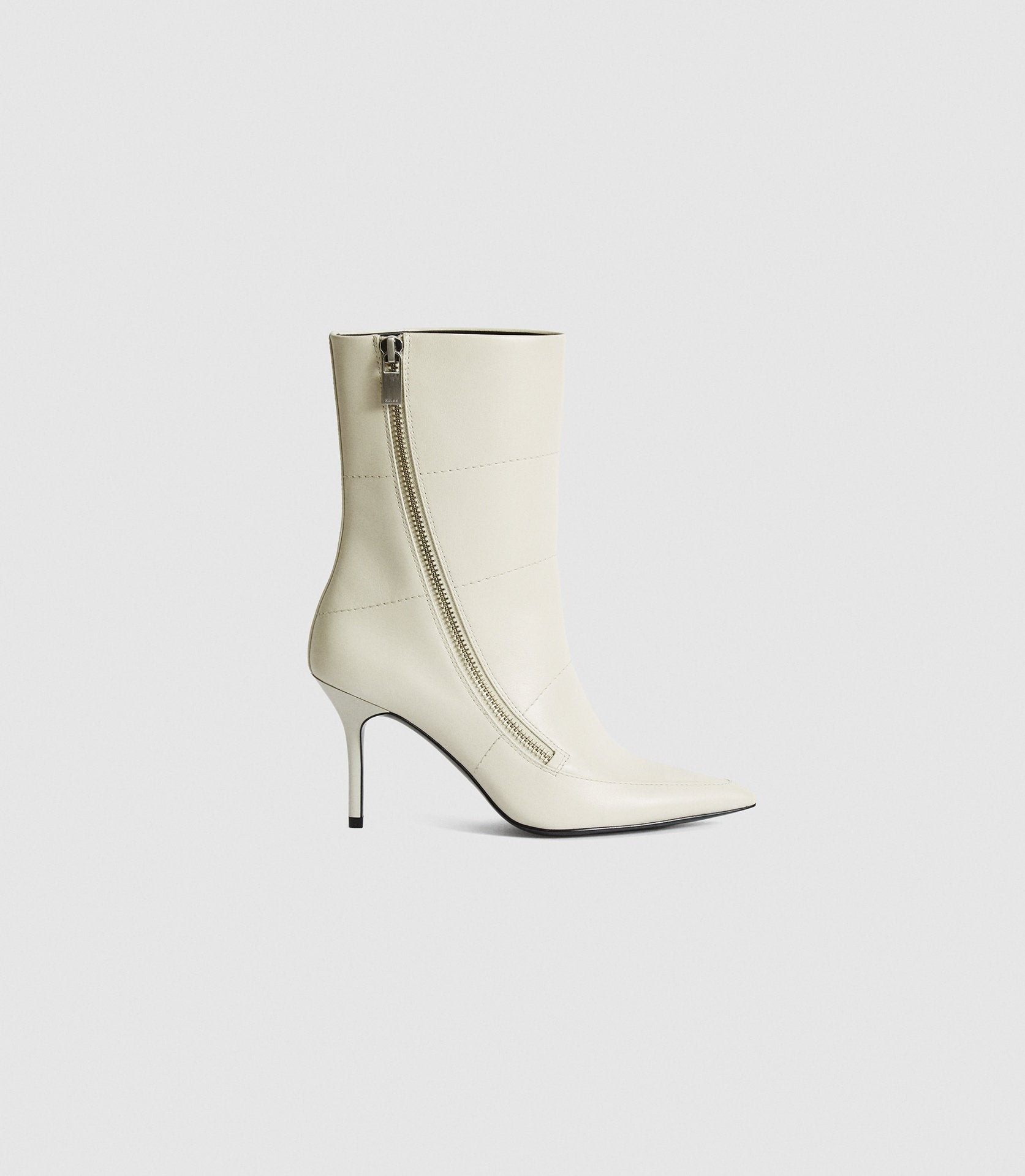 Reiss Hoxton - Leather Point-toe Off White, Womens, Size 3 Boot