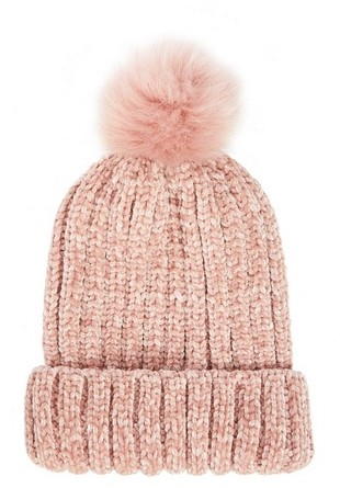 Dorothy Perkins Womens *Quiz Pink Chenille Knit Pom - Pink, Pink Hat
