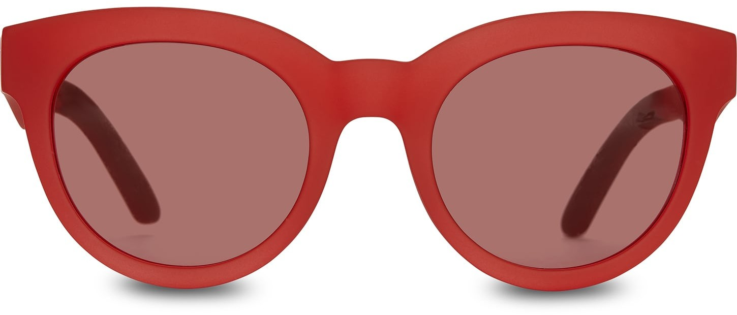 Toms Traveler By TOMS Florentin Matte Fiesta Red With Fiesta Red Lens Sunglasses