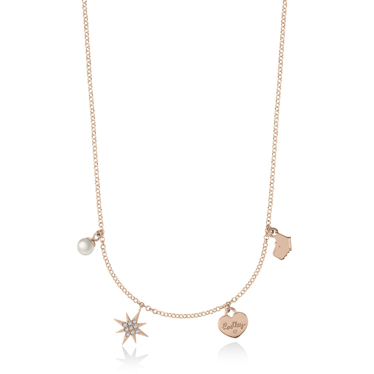 Radley London Pearl Pearl Ditsy Chain  Necklace