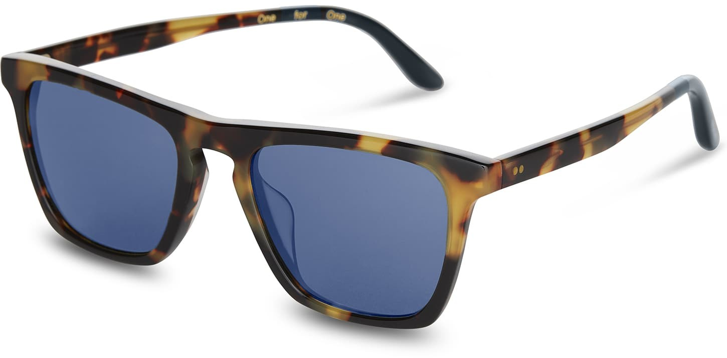 Toms Dawson Blonde Brown With Midnight Blue Lens Sunglasses