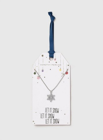 Dorothy Perkins Womens Snow Flake Ditsy - Silver, Silver Necklace